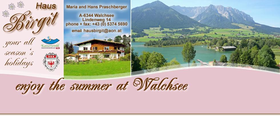 Holidays Haus Birgit Walchsee