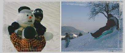 Auf zum Schneemannbauen, Sackrutschen, Winterspaziergang, Schneeschuhwandern... - Urlaub am Bauernhof der Nationalpark-Hoefe