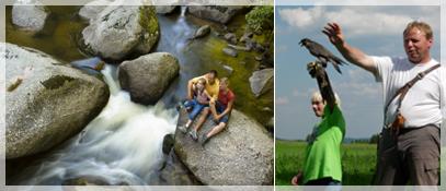 Wandern im Fluss_OOE Jagdfalkenhof - Muehlviertler Almwirte