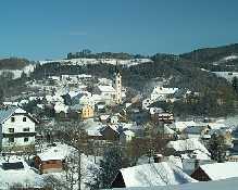 Ortsansicht von Unterweißenbach im Winter - Unterweissenbach Upper Austria