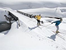 Cross-country skiing tracks in Kitzbühel