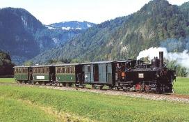 Wälderbähnle mit Dampflok bei Bezau - Bezau Vorarlberg