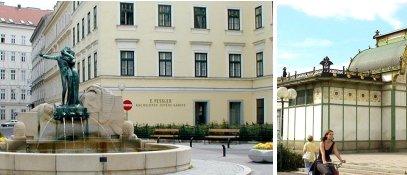 Mozartplatz & Otto Wagner-Pavillon - 4. Bezirk - Wieden Wien