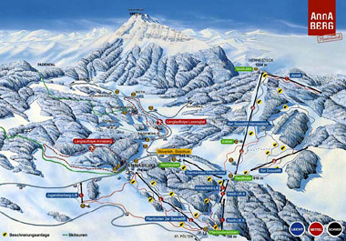 Annaberg - Familienskigebiet Panoramic Picture - Regiunea de ski pentru familii Annaberg Annaberg
