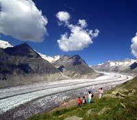 Wandern am Aletschgletscher - Bettmeralp Wallis